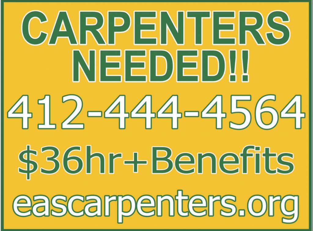 carpenters needed